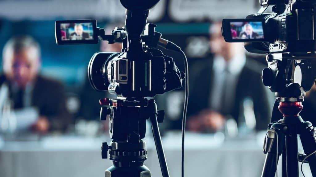 Camera Recording Press Conference
