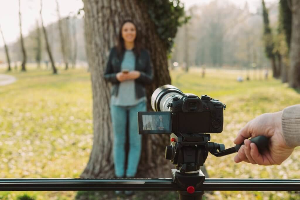 Video shooting at the park